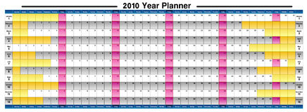 2010 Year Planner. Just 2010 Year Planner, The  file can be resized to any size you need with the needed resolution. Be free Stock Image