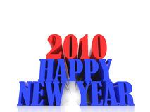 2010 year ten. High resolution image new-year. 3d illustration over white backgrounds vector illustration