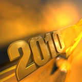 2010 Year Text Royalty Free Stock Image