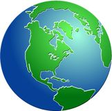 二面对切的地球 免版税库存图片
