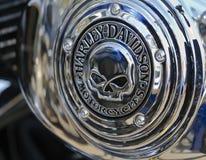 2010靶垛davidson强壮的harley徽标头骨 免版税库存图片