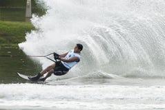 2011个亚洲人竞争waterski 库存图片