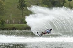 2011个亚洲人竞争waterski 免版税库存图片