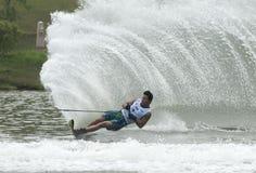 2011个亚洲人竞争waterski 库存照片