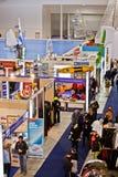 2011个大蓝色不同的商展罗马海运立场 免版税库存照片