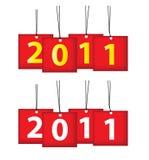 2011个日历图标 免版税图库摄影