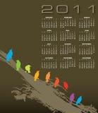 2011个日历本质主题 向量例证