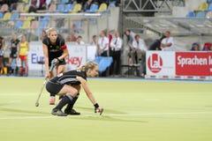 2011个杯子欧洲德国曲棍球西班牙v 免版税库存图片