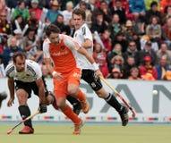 2011个杯子欧洲最终德国曲棍球人s 免版税库存照片