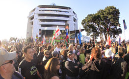 2011个杯子游行rygby世界 库存图片