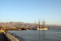 2011个海湾12月eilat以色列视图 免版税库存照片