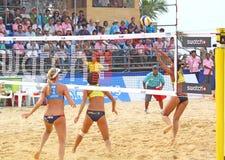 2011个海滩fivb样片浏览排球世界 库存照片