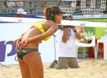 2011个海滩fivb样片浏览排球世界 免版税库存照片