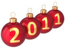 2011个球圣诞节日期喂res 免版税库存图片