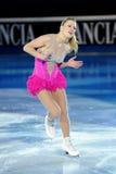 2011个证书金黄joannie rochette冰鞋 图库摄影