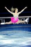 2011个证书金黄joannie rochette冰鞋 免版税图库摄影