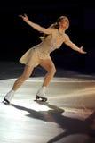 2011个证书金黄joannie rochette冰鞋 免版税库存图片