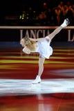 2011个证书金黄joannie rochette冰鞋 库存照片