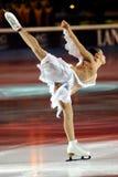 2011个证书金黄marchei冰鞋valentina 图库摄影