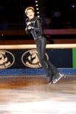 2011个证书buttle金黄jeffrey冰鞋 库存照片