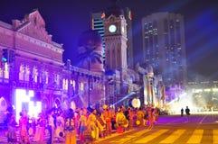 2011个颜色马来西亚排练 库存图片