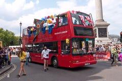 2011位同性恋者伦敦游行自豪感 库存图片