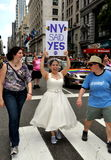 2011位同性恋者nyc游行自豪感 库存照片
