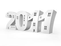 2011作为被传统化的大厦iinscription 免版税库存照片