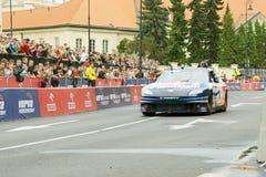 2011前nascar赛跑的街道verva视图 免版税图库摄影
