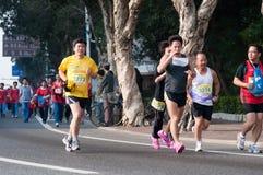 2011半国际马拉松珠海 库存照片