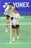 2011年亚洲羽毛球冠军双混合 免版税库存图片