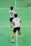 2011年亚洲羽毛球冠军双混合 库存图片