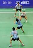 2011年亚洲羽毛球混合的冠军双 库存图片