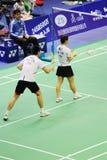 2011年亚洲羽毛球混合的冠军双 库存照片