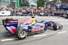 2011年公牛f1马来西亚红色显示速度街道 库存图片