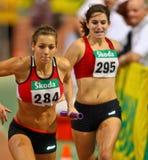 2011年冠军域室内跟踪 库存照片