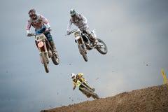 2011年冠军fim摩托车越野赛mx3 senkvice世界 免版税库存照片