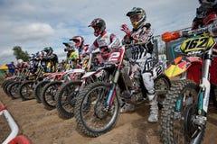 2011年冠军fim摩托车越野赛mx3 senkvice世界 库存照片