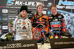 2011年冠军fim摩托车越野赛senkvice wmx世界 库存照片