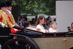 2011年凯瑟琳pippa皇家s姐妹婚礼 库存图片