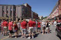 2011年加拿大人群日节日 库存照片