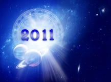2011年占星术新年度 库存照片