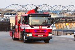 2011年发动机起火ndp 库存照片