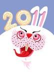 2011年图象新的数字兔子岁月 免版税库存照片