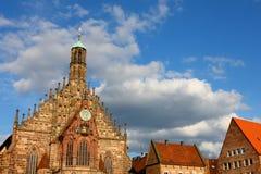 2011年教会德国纽伦堡 库存照片