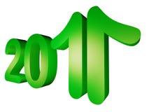 2011年显示年的增长 皇族释放例证
