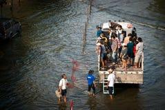 2011年最坏曼谷的洪水 图库摄影