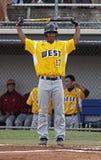 2011年棒球联盟高级系列舒展世界 免版税库存照片