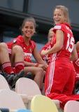2011年比利时杯子欧洲德国曲棍球夫人 库存图片