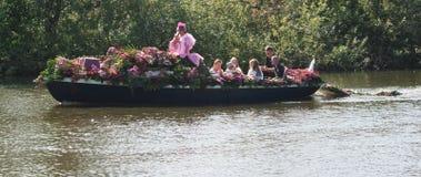 2011年浮动的花游行westland 免版税库存图片